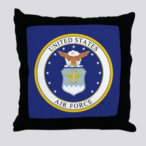USAF Emblem Throw Pillow
